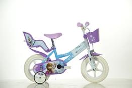 12 Zoll FROZEN Eisprinzessin Kinderfahrrad Kinderrad Fahrrad Rad Bike DINO-Bike -