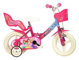 12 Zoll Princess Prinzessin Kinderfahrrad Kinderrad Fahrrad Rad Bike DINO-Bike ... -
