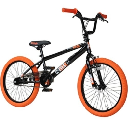 20' BMX deTOX Freestyle Kinder BMX Anfänger, Farbe:schwarz/orange -
