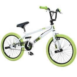 20' BMX deTOX Freestyle Kinder BMX Anfänger, Farbe:weiss/grün -
