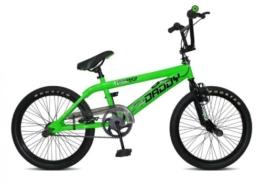 20' BMX Rooster Big Daddy Spoked 4 Farben Model 2012 4 x Stunt Pegs 360 Grad Rotor, Farbe:grün -