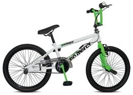 20' Jugend Rad BMX Rooster No Mercy, Farbe:weiss/grün -