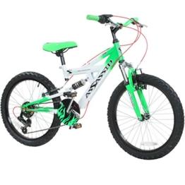 20 Zoll Kinder Mountainbike Concept Assassin Fully 2 Größen 4 Farben vollgefedert, Farbe:Grün;Radgröße:20 zoll -