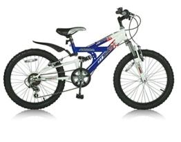 20 Zoll Kinderfahrrad Mountainbike Shimano 6 Gang Vollgefedert Kinder Bike Fahrrad Jugendfahrrad Kinderrad Rad ABRAR MX BLAU -