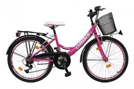 24 ZOLL Kinder Fahrrad Kinderfahrrad Cityfahrrad Citybike Mädchenfahrrad Bike VOLTAGE LADY PINK -