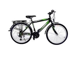 "24 Zoll Kinderfahrrad cityfahrrad jungenfahrrad citybike 24"" rad 21 Gang shimano schwarz grün -"