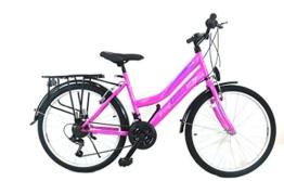 "24 Zoll Kinderfahrrad MädchenfahrradCityfahrrad Citybike 24"" Damenrad pink neu -"
