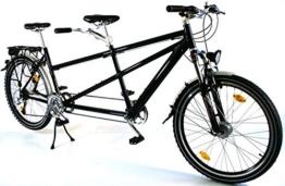 26 Zoll Alu Tandem Fahrrad MTB Shimano Deore Nabendynamo schwarz -