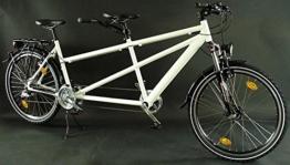 26 Zoll Alu Tandem Fahrrad MTB Shimano Deore Nabendynamo weiss -
