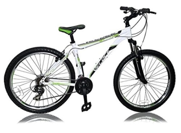 "27,5 Zoll Alu Aluminium Mountainbike Herren Fahrrad Rad Bike MTB Shimano 21 Gang Veloce Legion Weiss Rahmenhöhe 48cm (19"") -"