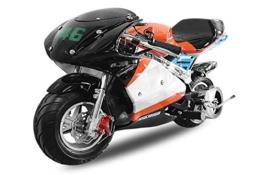 49cc Pocketbike PS88 Minibike Racing Pocket Race Mini Bike Cross (Orange-Schwarz-Weiss) 1130228 -