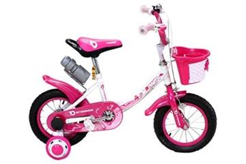 Actionbikes Kinderfahrrad Daisy ab 3 Jahren 12 Zoll Pink Kinderrad Kinder Mädchen Jungen Fahrrad -