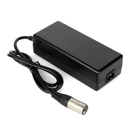 AFTERPARTZ 36V 2A Elektrofahrrad Akku Batterie Ladegerät 3-polig XLR3 E-Bike Zertifizierung (XLR3) -