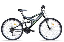 Bergsteiger Mountainbike 24 Zoll für Kinder /All Mountain/, MTB, geeignet für 8 - 11 Jahre, 18 Gang, vollgefedert -