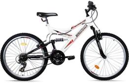 Bergsteiger Mountainbike 26 Zoll /All Mountain/, MTB, 18 Gang Shimano, vollgefedert, Stollenbereifung -