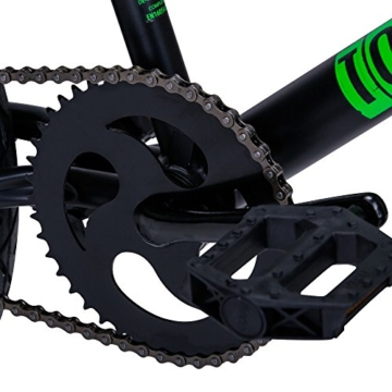 Bergsteiger Tokyo 20 Zoll BMX, Fatbike, 360° Rotor-System, 4 stahl Pegs, Kettenschutz, Freilauf -