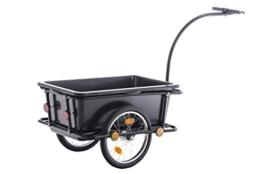 CLP Fahrrad-Anhänger LENNY, mit Sicherheitsdrehkupplung & Deichsel schwarz -