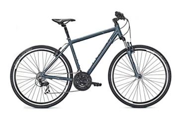 Crossrad Univega TERRENO 1.0 28' 21G Herren in bluegrey matt/grey, Rahmenhöhe:60 -
