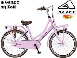 Damen Hollandrad 24 Zoll 3 Gang Dutch Pink -