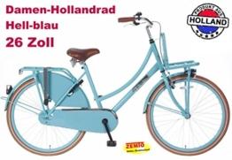 Damen Hollandrad 26 Zoll POZA Daily blau -
