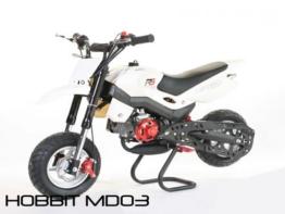 Dirtbike 49cc Hobbit Sport Pocketbike Crossbike Kinderbike Weiß -