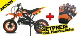 "Dirtbike Apollo 49cc 10"" Crossbike Pocket Minicross Motorcross Orange -"