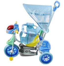 Dreirad Kinderdreirad Fahrrad Baby Kleinkinder Dreiräder Schieber Neu #2543, Farbe:Blau -