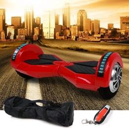 E-Balance Wheel MonoRover M.1 E-Scooter Smart Board Elektroroller Elektro Scooter (rot) -