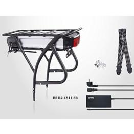 "E-Bike Akku Kit, 26"" - 28"", 48V 11Ah (528Wh!) Akku, Gepäckträger, silber/schwarz -"