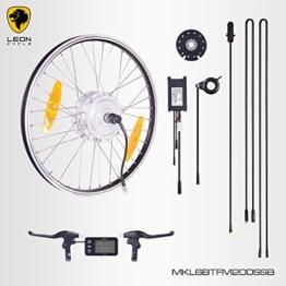 """E-Bike,Pedelec,Elektrofahrrad Conversion Kit, 36V 250W, 20"""" Zoll,Umbausatz mit MXUS Frontmotor,LCD Display, für Scheibenbremsaufnahme geeignet, mit Sinus wave Controller und Daumengashebel -"""