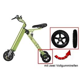 Elektrofahrräder Mini Electric Bikes Mode & Smart Electronic Vehicle Scooter Elektromobilität Tricycle Faltbare & tragbare elektrische Fahrrad (Grün) -