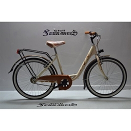 Fahrrad Fahrrad Venere Gehstock City Bike 241V creme braun bambina-donna -