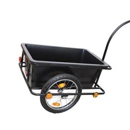 Grafner® XXL Fahrradanhänger Fahrradlastenanhänger Handwagen 150 kg Zuladung -
