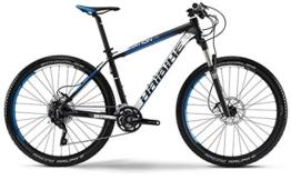 Haibike Edition 7 70 - 27,5 Zoll - Mountainbike - 30-Gang Shimano XT mix - schwarz/weiss/blau matt (Rahmenhöhe 45) -