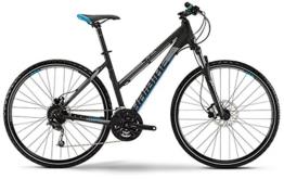"HaiBike Land 8.10 Damen 28"" Crossrad - 27-Gang SLX mix - schwarz/grau/blau matt (Rahmenhöhe 48) -"