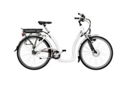 HAWK Bikes Green City Plus Easy-B E-Bike - Damen City Pedelec mit tiefem Einstieg und Nabenschaltung - 7-Gang Nabe und Aluminiumrahmen (Schwarz Matt, Rahmengröße 46 cm) -