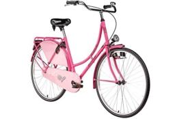 Hollandrad 28'' Bermuda Valencia in pink Stadtrad Damen Holland Fahrrad Citybike Beleuchtung Gepäckträger Rücktrittbremse -