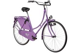 Hollandrad 28'' Bermuda Valencia in violett Stadtrad Damen Holland Fahrrad Citybike Beleuchtung Gepäckträger Rücktrittbremse -