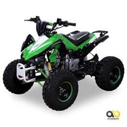 Kinder Quad S-12 125 cc Motor Miniquad 125 ccm grün/weiß Panthera -