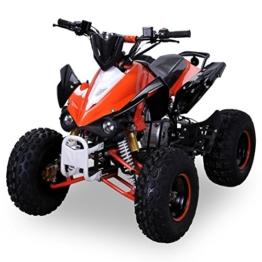 Kinder Quad S-12 125 cc Motor Miniquad 125 ccm orange/weiß Panthera -