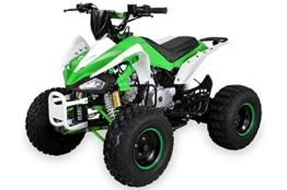 Kinder Quad S-14 125 cc Motor Miniquad 125 ccm grün/weiß Speedy -