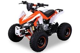 Kinder Quad S-14 125 cc Motor Miniquad 125 ccm orange/weiß Speedy -