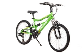 Kinderfahrrad 20 Zoll Hillside Hero in grün Mountainbike Fahrrad MTB 7 Gang Shimano Schaltung Federung vorn & hinten -