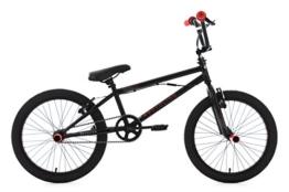 KS Cycling Bmx Freestyle Scandium Fahrrad, Schwarz-Rot, 20 -