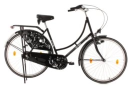 KS Cycling Damen Fahrrad Hollandrad Tussaud 3-Gänge Bellefleur, Schwarz, 28, 304H -