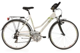 KS Cycling Damen Fahrrad Trekkingrad Alu-Rahmen Metropolis Multipositionslenker, Weiß, 28 Zoll, 132T -