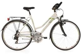 KS Cycling Damen Fahrrad Trekkingrad Alu-Rahmen Metropolis Multipositionslenker, Weiß, 28 Zoll, 130T -