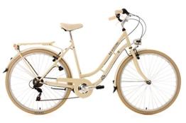 KS Cycling Damenfahrrad Cityrad Casino 6 Gänge, Beige, 28, 701C -