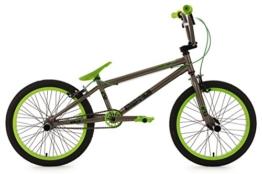 "KS Cycling Fahrrad BMX Freesyle 20"" Twentyinch anthrazit-grün KS Cycling, anthrazit, 20, 600B -"