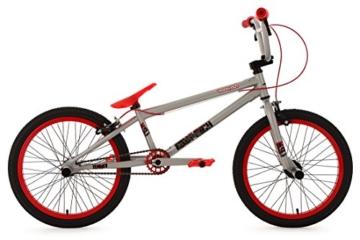 """KS Cycling Fahrrad BMX Freesyle 20"""" Twentyinch silber-rot KS Cycling, silber, 20, 601B -"""